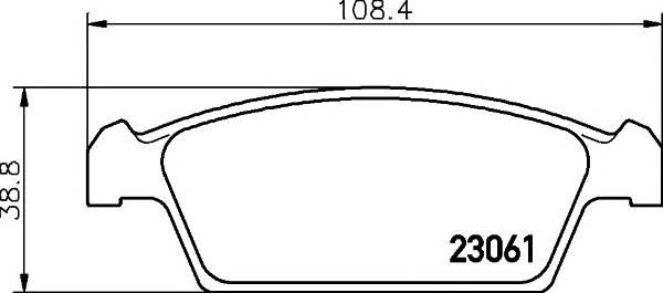 Тормозные колодки 23061/14,5мм Тормозные колодки PAGID PAGID арт. T3091