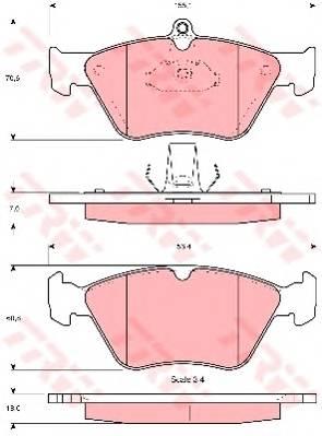 Тормозные колодки Тормозные колодки дисковые PAGID арт. GDB1166