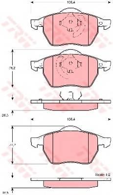 Тормозные колодки Тормозные колодки дисковые PAGID арт. GDB1275