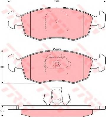Тормозные колодки Тормозные колодки дисковые ABE арт. GDB1383