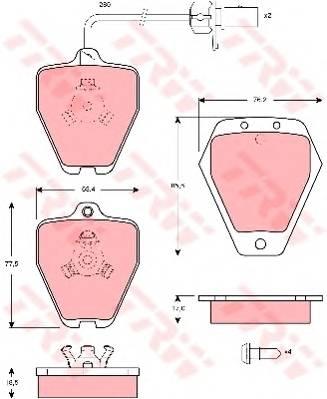 Тормозные колодки Тормозные колодки дисковые PAGID арт. GDB1451
