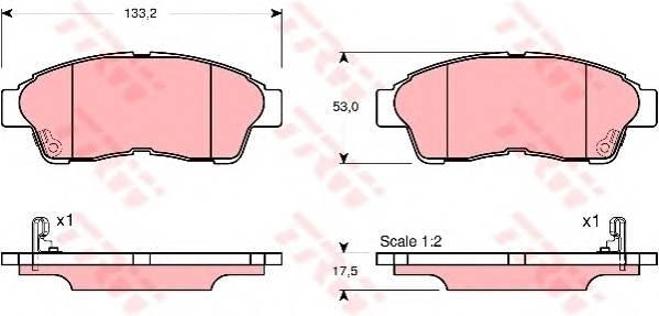 Тормозные колодки Тормозные колодки дисковые PAGID арт. GDB3147