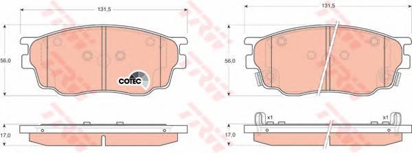 Тормозные колодки Тормозные колодки дисковые PAGID арт. GDB3309