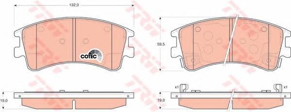 Тормозные колодки Тормозные колодки дисковые ABE арт. GDB3310