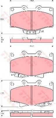 Тормозные колодки Тормозные колодки дисковые PAGID арт. GDB3383