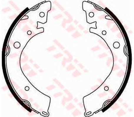 Тормозные колодки Тормозные колодки барабанные ABE арт. GS8215