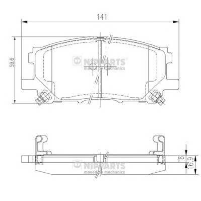 Тормозная система Гальмiвнi колодки, к-кт. PAGID арт. J3602125
