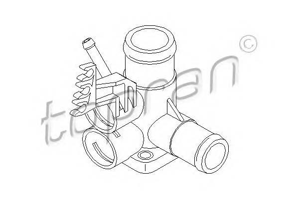 ФЛАНЕЦ СИСТ. ОХЛ. (ДЛЯ ДАТЧИКОВ) VW GOLF/PASSAT/TOLEDO 1,6-2,0E 88- TOPRAN 100720