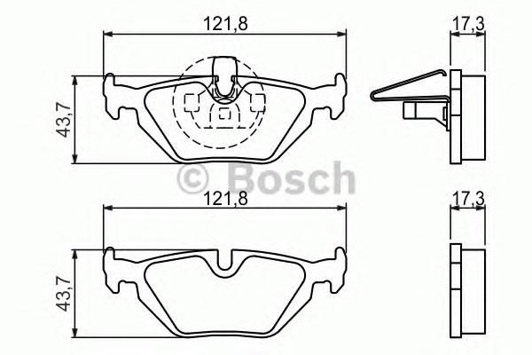 Тормозные колодки Тормозные колодки Bosch PAGID арт. 0986424484