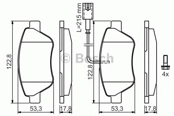 Тормозные колодки Тормозные колодки Bosch ABE арт. 0986424597
