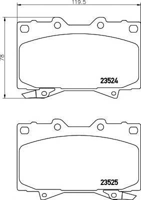 Тормозные колодки Тормозные колодки дисковые TEXTAR PAGID арт. 2352402