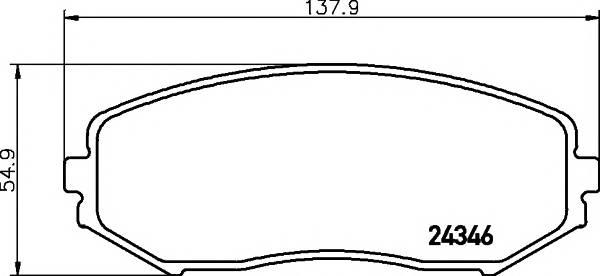 Тормозные колодки Тормозные колодки дисковые TEXTAR ABE арт. 2434601