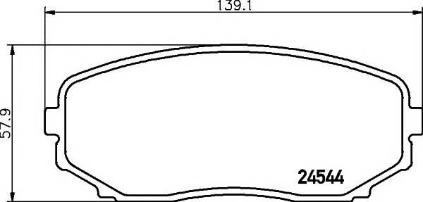 Тормозные колодки Тормозные колодки дисковые TEXTAR ABE арт. 2454401