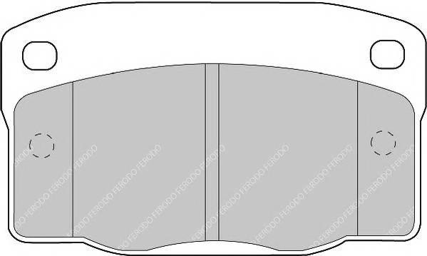 Тормозные колодки Тормозные колодки Ferodo PAGID арт. FDB1035