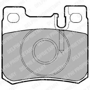 Гальмівні колодки, дискові PAGID арт. LP947