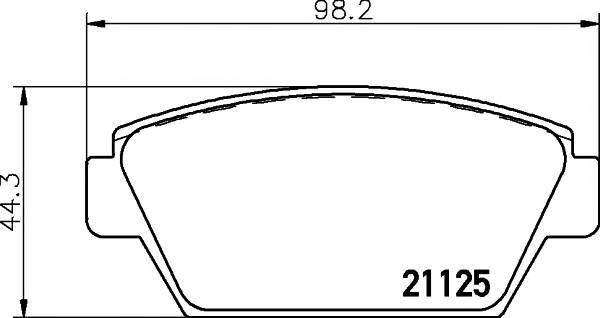 Тормозные колодки 21125/14,0мм Тормозные колодки PAGID PAGID арт. T0360