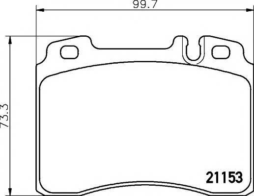 Тормозные колодки 21153/16,0мм Тормозные колодки PAGID PAGID арт. T1126