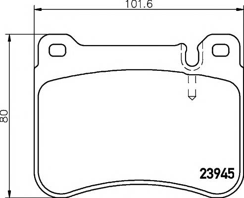 Тормозные колодки 23945/16,5мм Тормозные колодки PAGID PAGID арт. T1549
