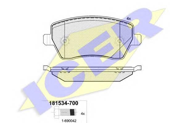 Тормозные колодки Тормозные колодки дисковые PAGID арт. 181534700