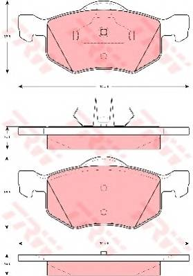 Тормозные колодки Тормозные колодки дисковые ABE арт. GDB1497