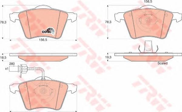 Тормозные колодки Тормозные колодки дисковые ABE арт. GDB1538