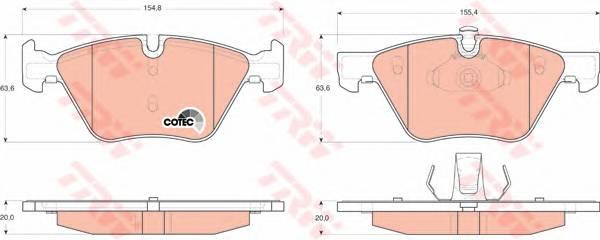 Тормозные колодки Тормозные колодки дисковые ABE арт. GDB1559