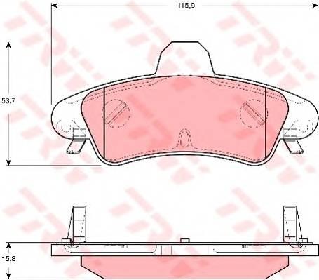 Тормозные колодки Тормозные колодки дисковые PAGID арт. GDB1580