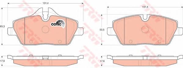 Тормозные колодки Тормозные колодки дисковые ABE арт. GDB1611