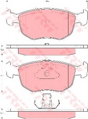 Тормозные колодки Тормозные колодки дисковые PAGID арт. GDB1618