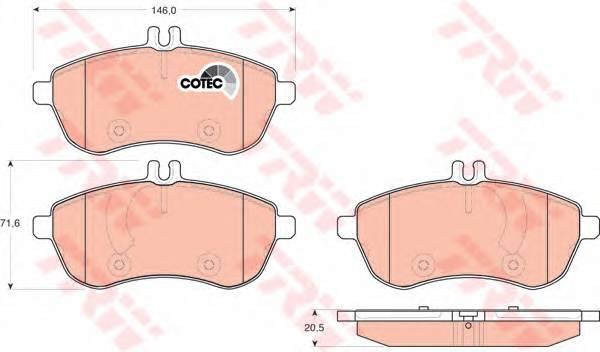 Тормозные колодки Тормозные колодки дисковые ABE арт. GDB1736