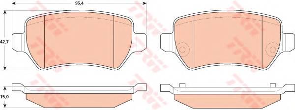 Тормозные колодки Тормозные колодки дисковые PAGID арт. GDB1831