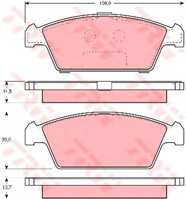 Тормозные колодки Тормозные колодки дисковые PAGID арт. GDB3108
