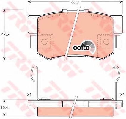 Тормозные колодки Тормозные колодки дисковые PAGID арт. GDB3154