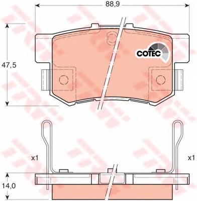 Тормозные колодки Тормозные колодки дисковые PAGID арт. GDB3175