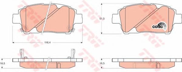 Тормозные колодки Тормозные колодки дисковые ABE арт. GDB3242