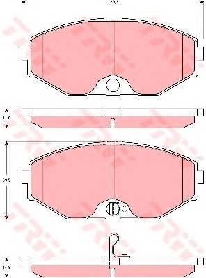 Тормозные колодки Тормозные колодки дисковые ABE арт. GDB3273