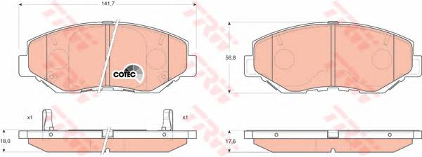 Тормозные колодки Тормозные колодки дисковые ABE арт. GDB3325