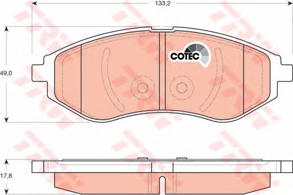 Тормозные колодки Тормозные колодки дисковые PAGID арт. GDB3330