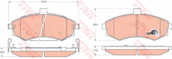 Тормозные колодки Тормозные колодки дисковые ABE арт. GDB3378