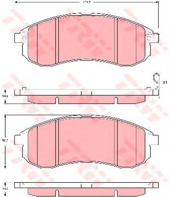 Тормозные колодки Тормозные колодки дисковые ABE арт. GDB3380