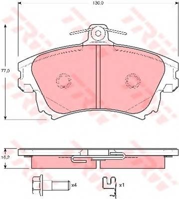 Тормозные колодки Тормозные колодки дисковые ABE арт. GDB3389