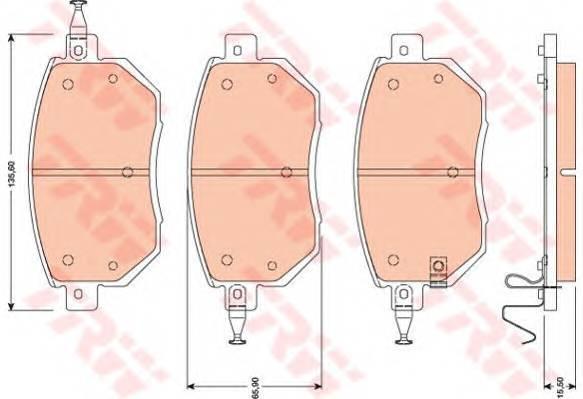 Тормозные колодки Тормозные колодки дисковые ABE арт. GDB3416