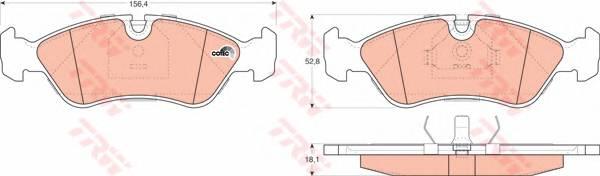 Тормозные колодки Тормозные колодки дисковые PAGID арт. GDB951