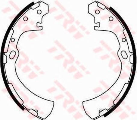 Тормозные колодки Тормозные колодки барабанные ABE арт. GS8512