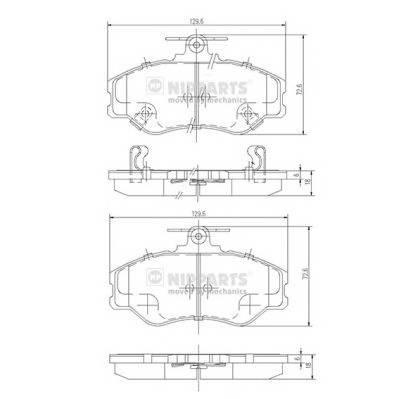 Тормозная система Гальмiвнi колодки, к-кт. PAGID арт. J3600513