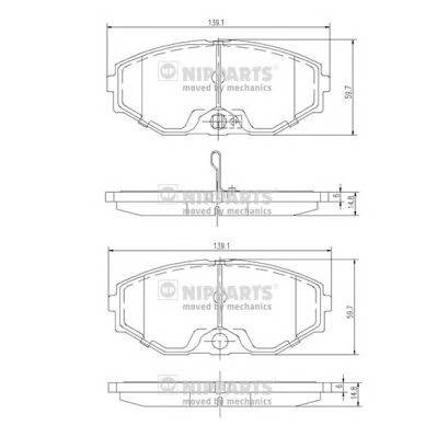 Тормозная система Гальмiвнi колодки, к-кт. ABE арт. J3601074
