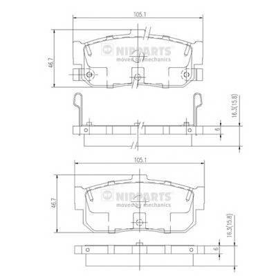Тормозная система Гальмiвнi колодки, к-кт. PAGID арт. J3611034