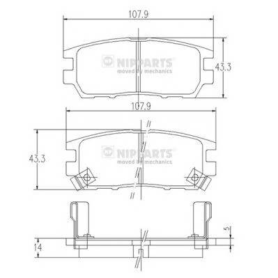 Тормозная система Гальмiвнi колодки, к-кт. PAGID арт. J3615005