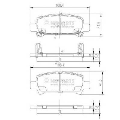 Тормозная система Гальмiвнi колодки, к-кт. PAGID арт. J3617002