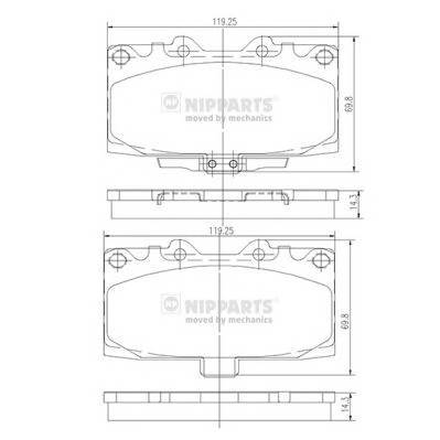 Тормозная система Гальмiвнi колодки, к-кт. PAGID арт. N3607022